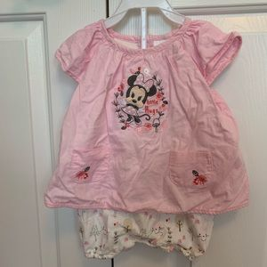 Disney Minnie Mouse Outfit 6-9 months